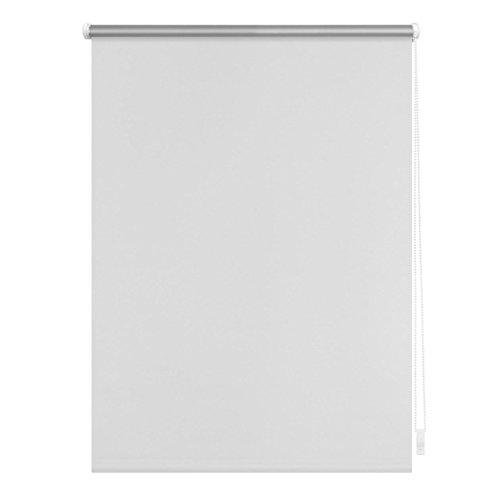 Lichtblick Verdunklungsrollo Klemmfix, 80 cm x 150 cm (B x L) in Weiß, ohne Bohren, Sonnen-, Sicht-, Hitze- & Kälte-Schutz, reflektierende Thermo-Rollo Funktion, Verdunkelung für Fenster & Türen