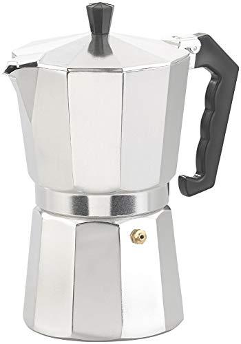 Cucina di Modena Espressomaschine: Espresso-Kocher für 9 Tassen, 400 ml, für Gas- & Eletroherde geeignet (Outdoor-Espressokocher)
