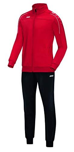 JAKO Herren Trainingsanzug Polyester Classico, rot, M, M9150
