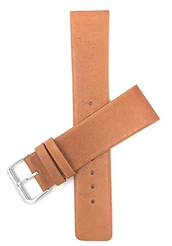 Schraubverbindung, 20mm Hellbraun Ersatz-Uhrenarmband für Herren, Lederarmband für Skagen Uhren, Befestigung mit Schrauben