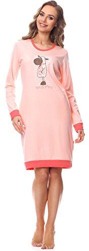 Cornette Damen Nachthemd 652 2016 (Rosa-23, L)