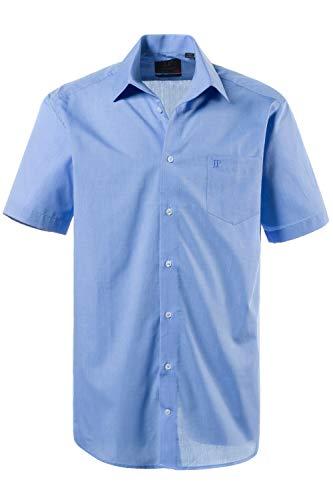 JP 1880 Herren große Größen bis 8XL, Kurzarm Businesshemd aus Reiner Baumwolle, mit Brusttasche, Variokragen & Comfort Fit blau XXL 705178 71-XXL