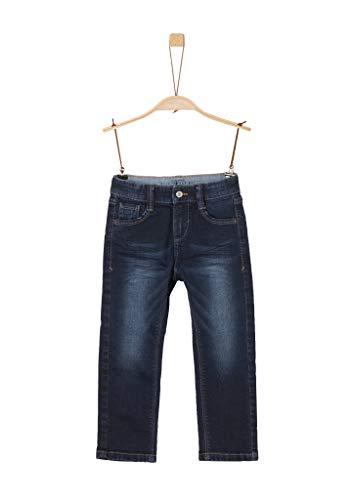 s.Oliver Junior Jungen 74.899.71.0532'' Slim Jeans, Dark Blue stretche, 128 (Herstellergröße: 128/SLIM)