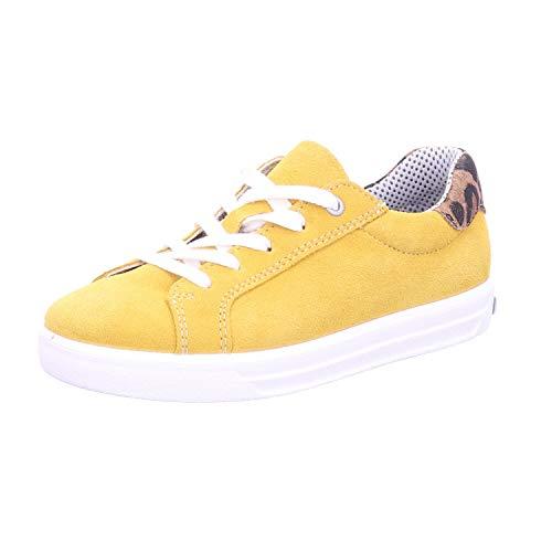 RICOSTA Kinder Low-Top Sneaker Malia, Weite: normal, strassenschuh schnürer schnürschuh sportschuh Kinder Kids Maedchen toben,gelb,34 EU / 2 UK