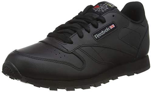 Reebok Classic Leather, Unisex-Kinder Sneaker, Schwarz (Black), 38 EU