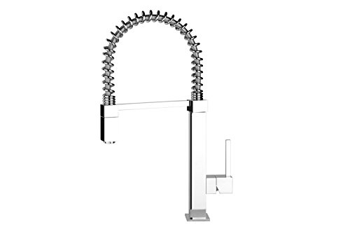 Gessi kitchen taps Quadro Hi Tech single lever kitchen tap with pull out hand shower 29821