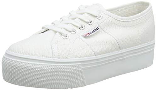 Superga 2790 Linea Updown Flatform Damen Sneaker,Weiß (901) ,39.5 EU