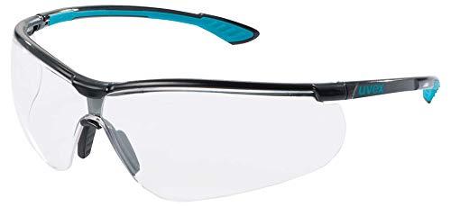 Uvex Sportstyle Schutzbrille - Supravision Extreme -Transparent/Schwarz-Petrol