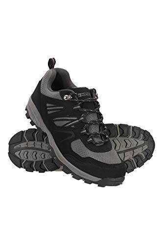 Mountain Warehouse McLeod Schuhe für Herren - Leichte Allwetterschuhe, strapazierfähig, atmungsaktiv, Wanderschuhe, Laufschuhe, Netzfutter - Für Reisen, Camping Schwarz Jet 46