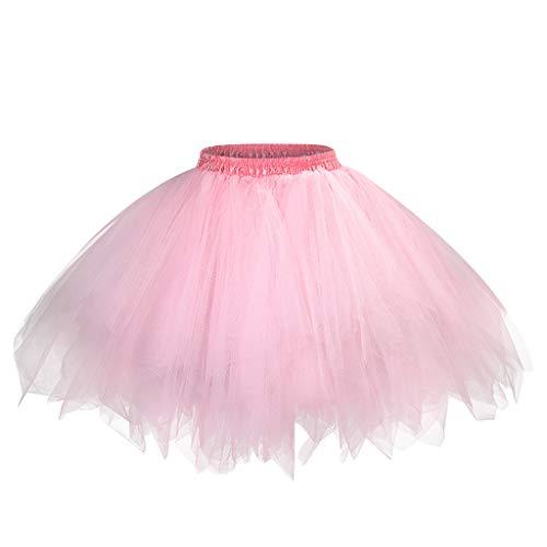 Writtian Tutu Tüllrock Damen Petticoat Unterrock 50er Rockabilly Petticoat Tutu Unterrock Vintage Ballet Blase Tanzkleid Ballkleid Abendkleid Karneval kostüm Damen 2020