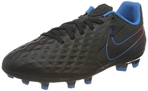 Nike Jr. Tiempo Legend 8 Academy MG Football Shoe, Black/Black-Siren Red-Light Photo Blue-Cyber, 34 EU