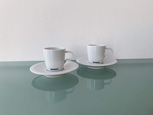Nespresso 2er Espresso Tasse mit Untertasse