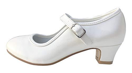La Senorita Spanische Flamenco Schuhe - Ivory Weiß (39 EU)