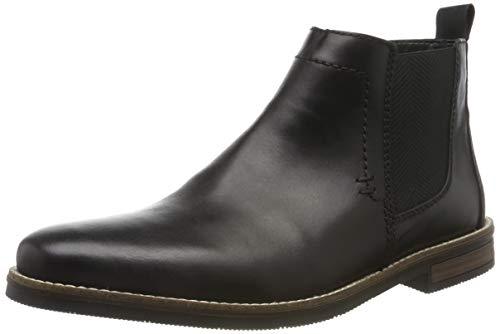 Rieker Herren 33553 Chelsea Boots, Schwarz (Nero/Schwarz 00), 43 EU