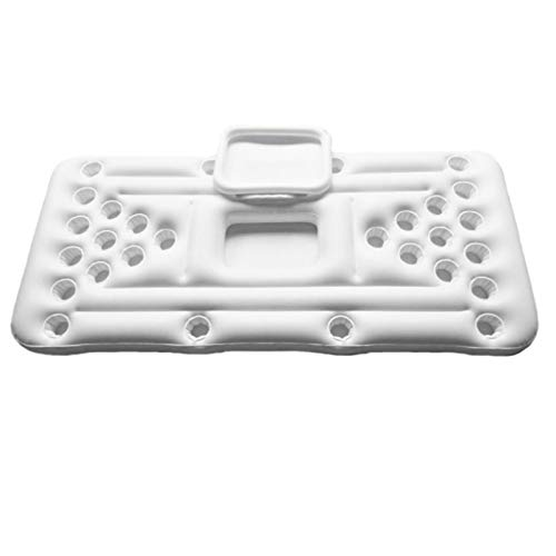 DUTUI Aufblasbare Schwimmende Reihe, Tischtennisbier-Spieltisch, Tragbares Faltbares Familienparty-Partyspiel, 180X83cm,Weiß