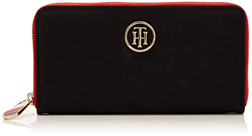 Tommy Hilfiger Poppy Lrg Za Wallet, Damen Geldbörse, Black, 11.5x24x31 cm (W x H L)