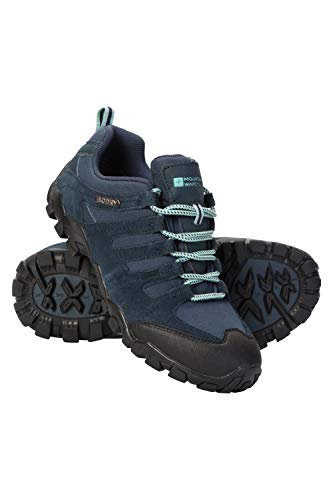 Mountain Warehouse Belfour Wanderschuhe für Damen - leichte Laufschuhe atmungsaktiv, Allwetterschuhe zum Schnüren - Für Trekking, Fitness und Jogging Marineblau 39 EU