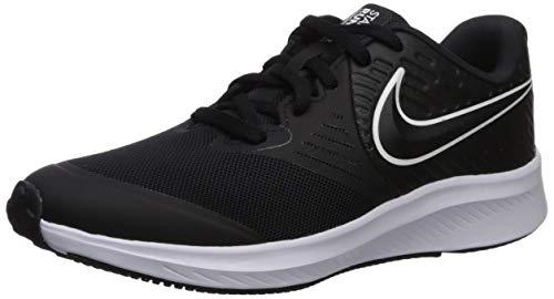 Nike Star Runner 2 (GS) Sneaker, Schwarz (Black/White-Black-Volt 001), 36.5 EU