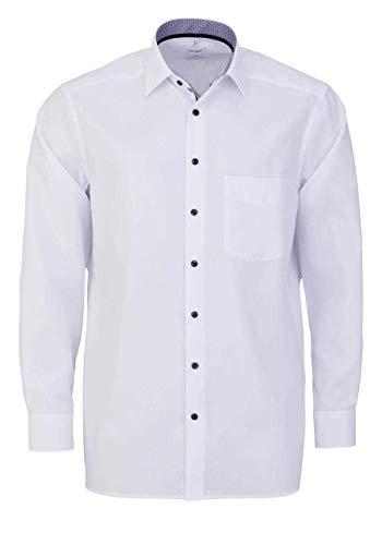 OLYMP Luxor Comfort fit Hemd Langarm New Kent Kragen weiß Größe 42