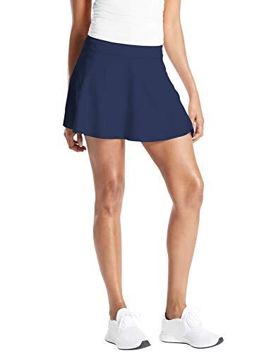 TAIPOVE Damen Tennisrock Golfrock Sport Rock Women Skirt mit Tasche Innenhose, Blau, M