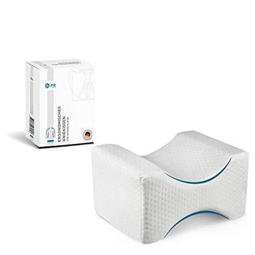 N-PIR Premium KNIEKISSEN für Seitenschläfer   Verbessertes Konzept 2021   Ergonomisches Beinkissen zum Schlafen   Memory Foam Schlafkissen 2.0