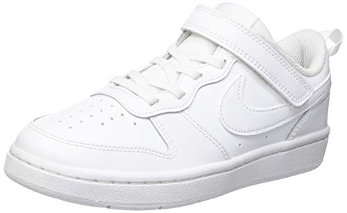 Nike Court Borough Low 2 (PSV) Sneaker, White/White-White, 29.5 EU