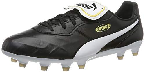 PUMA Unisex Adult KING Top FG Botas de fútbol, Black White, 40.5 EU