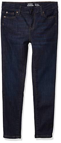 Amazon Essentials Mädchen jeans Girl's Skinny Stretch Jeans, Fiona/Dark Wash, 7 Plus