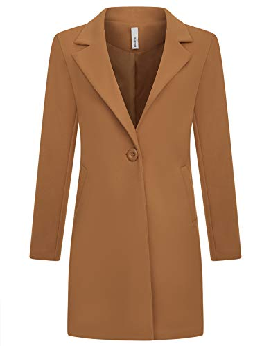 Zarlena Damen Mantel klassischer Female Trenchcoat Made in Italy Kamel L