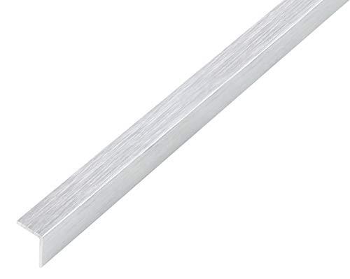 GAH-Alberts 489007 Winkelprofil | selbstklebend | Aluminium, edelstahldesign, hell | 1000 x 15 x 15 mm