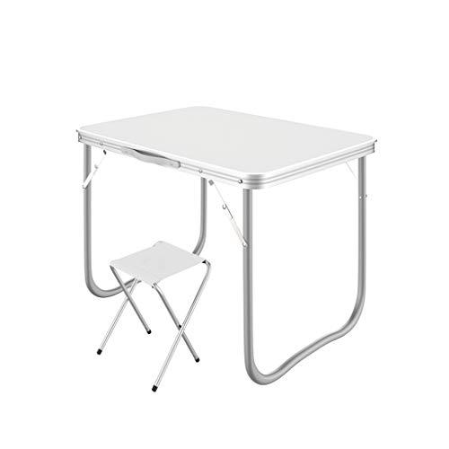 Folding table Tragbarer Klapptisch, Computertisch, Schulschreibtisch, Esstisch, für Picknickpartys im Innen- und Außenbereich, Camping und Essen 80x60cm