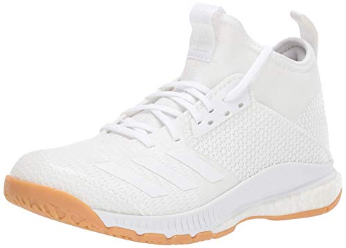 adidas Damen Crazyflight X 3 Mid Shoes Volleyball-Schuh, Weiß/Weiß/Gum, 46 EU