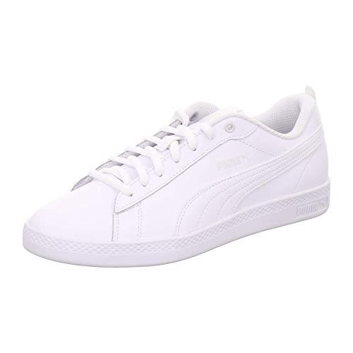 PUMA Damen Smash Wns v2 L Zapatillas, Weiß White White, 39 EU