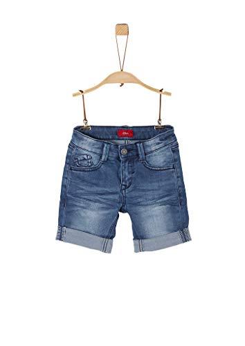 s.Oliver RED LABEL Jungen Slim Fit: Jeans-Bermuda blue 128.SLIM
