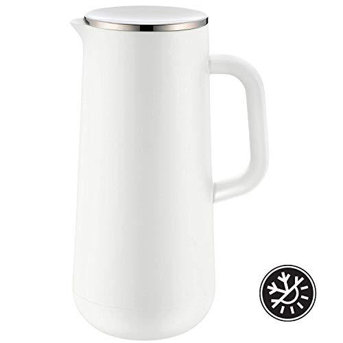 WMF Isolierkanne Thermoskanne Impulse, 1,0 l, für Kaffee oder Tee Drehverschluss hält Getränke 24h kalt und warm, weiß