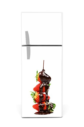 Kühlschrank Aufkleber 60 x 90 cm Schokoerdbeere