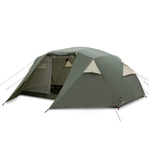 Qeedo Light Birch 7 Trekkingzelt, kleines Packmaß, leicht - 7 Personen Campingzelt, windstabil