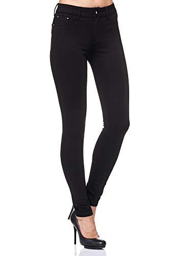 Elara Damen Stretch Hose Skinny Fit Jegging Chunkyrayan H01 Black 46 (3XL)