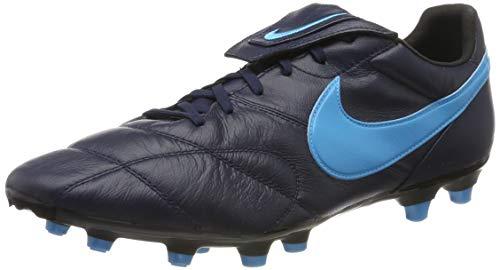 Nike Unisex The Premier II FG Fußballschuhe, Schwarz (Obsidian/Lt Current Blue/Black 440), 42.5 EU