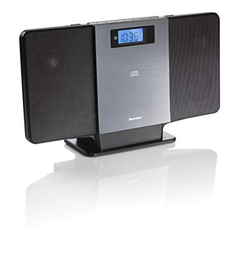 Karcher MC 6518 Kompaktanlage (mit CD Player, vertikale Stereoanlage, Bluetooth, UKW Radio, Sleep-Timer, Senderspeicher, MP3-Wiedergabe via USB) schwarz