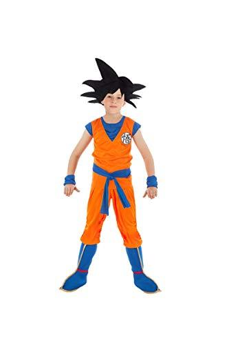 Generique - Son Goku-Dragonball Z-Lizenzkostüm für Kinder orange-blau - 140 (9-10 Jahre)