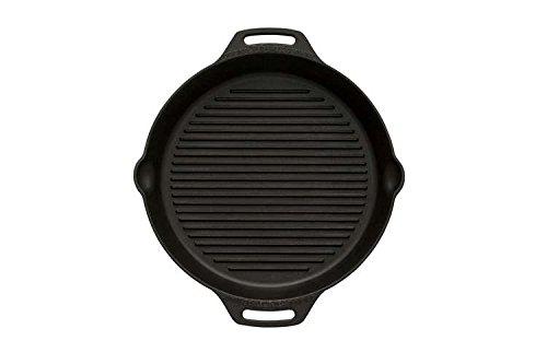 Petromax Grill-Feuerpfannen mit Rillen am Boden und Zwei Henkeln (Ø 35 cm mit 2 Henkeln)