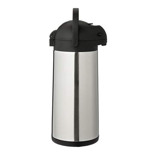METRO Professional Airpot Pumpkanne | 5 Liter | Pumpisolierkanne | Pumpthermoskanne | Getränkespender | auch für den gewerblichen Einsatz | Edelstahl | Kaffeekanne