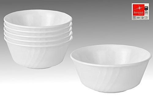 Bormioli 6er Set Rocco EBRO Schälchen, Ø 125 mm, 350 ml, Opal-Hartglas