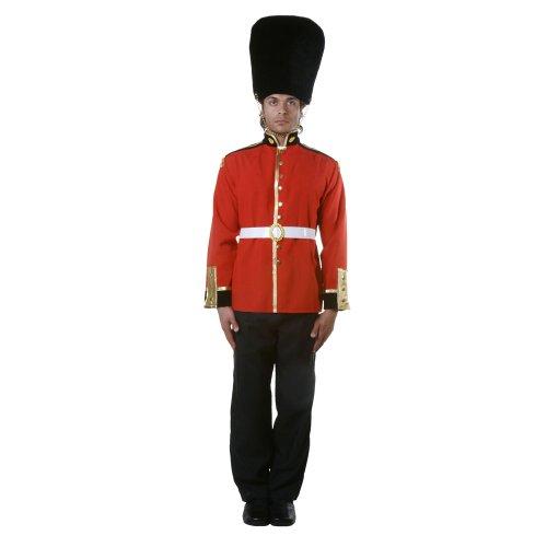 Dress Up America 346-M Attraktive erwachsene Royal Guard Soldat Kostüm, Boys, Größe Mittel (Taille: 99-112, Höhe: 165-168 cm, Schrittnaht: 74-79 cm)
