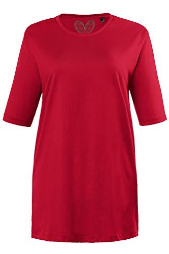 Ulla Popken Große Größen Damen T-Shirt, Rundhals, Rot (Rot 51), 42/44 (Herstellergröße:42)