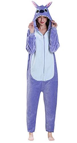 Yimidear Unisex Adult Pyjamas Cosplay Tier Onesie Nachtwäsche Nachtwäsche, Blue Stitch, S