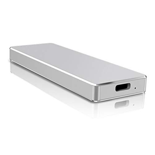 Festplatte Extern, Externe Festplatte USB3.1 Festplatte Tragbare für PC, Mac, Desktop, Laptop (1TB,Silber)