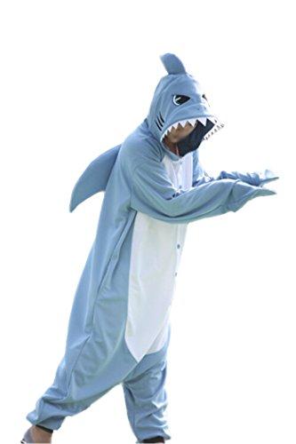 wotogold Herren Tier Shark Pyjamas Cosplay Kostüme X-Large Hellblau