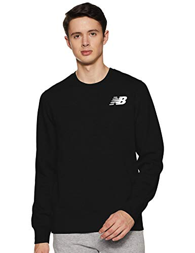 New Balance Herren Core Fleece Crew Top, Schwarz, XL